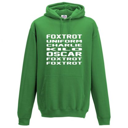 Mens F.U.C.K.O.F.F Hoodie - Kelly Green, 2XL