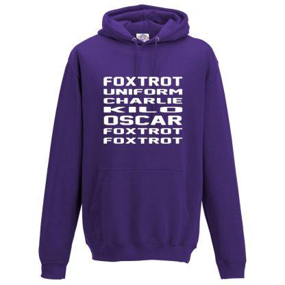 Mens F.U.C.K.O.F.F Hoodie - Purple, 3XL