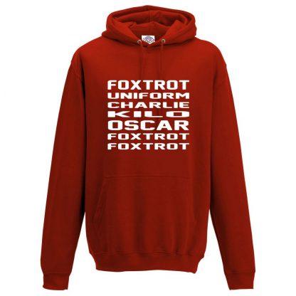 Mens F.U.C.K.O.F.F Hoodie - Red, 3XL