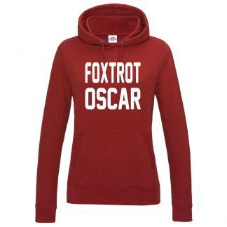 Ladies FOXTROT OSCAR Hoodie - Red, 18