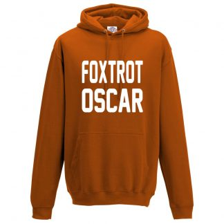 Mens FOXTROT OSCAR Hoodie - Orange, 2XL