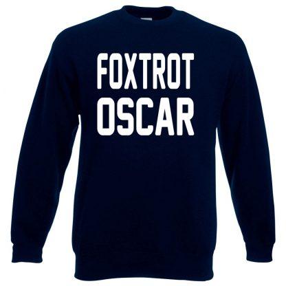FOXTROT OSCAR Sweatshirt - Navy, 3XL