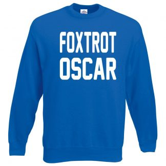 FOXTROT OSCAR Sweatshirt - Royal Blue, 2XL
