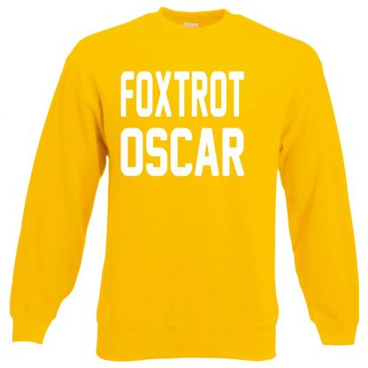 FOXTROT OSCAR Sweatshirt - Yellow, 2XL