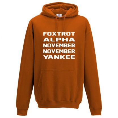 Mens F.A.N.N.Y Hoodie - Orange, 2XL