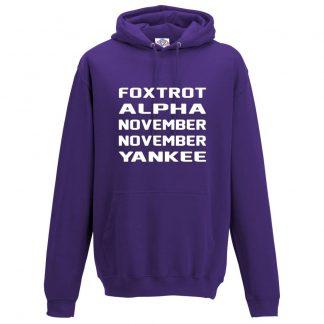 Mens F.A.N.N.Y Hoodie - Purple, 3XL