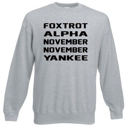 F.A.N.N.Y Sweatshirt - Grey, 3XL