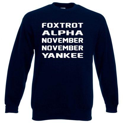 F.A.N.N.Y Sweatshirt - Navy, 3XL