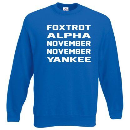 F.A.N.N.Y Sweatshirt - Royal Blue, 2XL