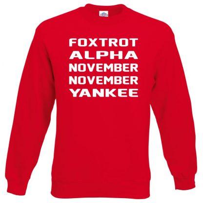 F.A.N.N.Y Sweatshirt - Red, 2XL