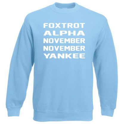 F.A.N.N.Y Sweatshirt - Sky Blue, 2XL