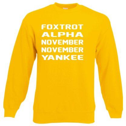 F.A.N.N.Y Sweatshirt - Yellow, 2XL