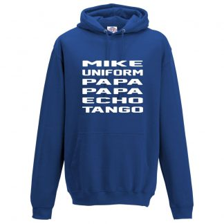 Mens M.U.P.P.E.T Hoodie - Royal Blue, 3XL