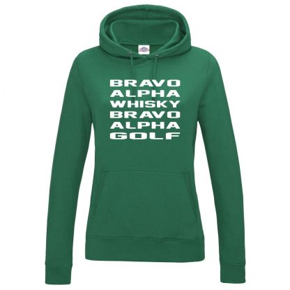 Ladies B.A.W.B.A.G Hoodie - Bottle Green, 18