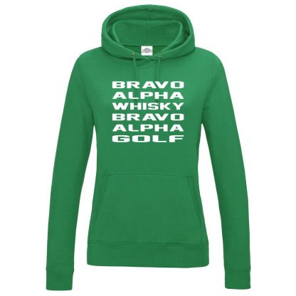 Ladies B.A.W.B.A.G Hoodie - Kelly Green, 18