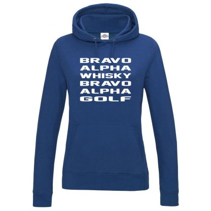 Ladies B.A.W.B.A.G Hoodie - Royal Blue, 18