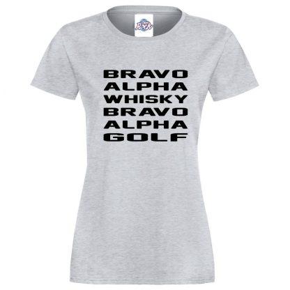 Ladies B.A.W.B.A.G T-Shirt - Heather Grey, 18