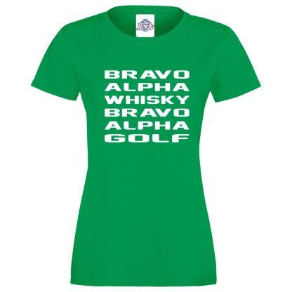 Ladies B.A.W.B.A.G T-Shirt - Kelly Green, 18