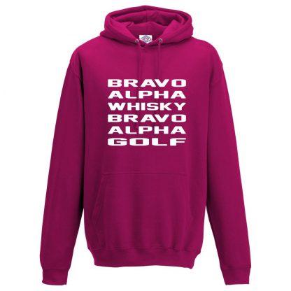 Mens B.A.W.B.A.G Hoodie - Hot Pink, 2XL