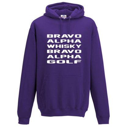 Mens B.A.W.B.A.G Hoodie - Purple, 3XL