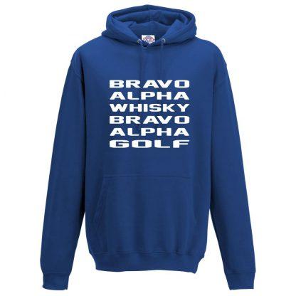 Mens B.A.W.B.A.G Hoodie - Royal Blue, 3XL