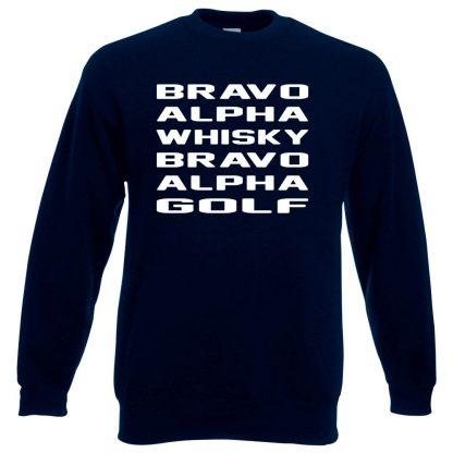 B.A.W.B.A.G Sweatshirt - Navy, 3XL