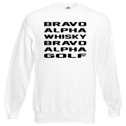 B.A.W.B.A.G Sweatshirt - White, 3XL