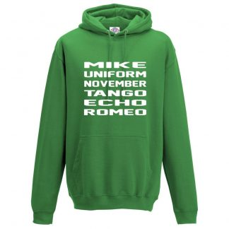 Mens M.U.N.T.E.R Hoodie - Kelly Green, 2XL