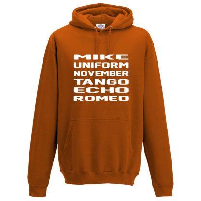 Mens M.U.N.T.E.R Hoodie - Orange, 2XL