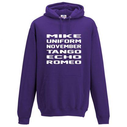 Mens M.U.N.T.E.R Hoodie - Purple, 3XL