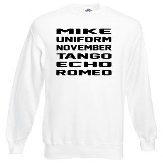M.U.N.T.E.R Sweatshirt - White, 3XL