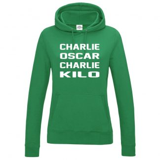 Ladies C.O.C.K Hoodie - Kelly Green, 18