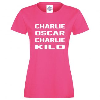 Ladies C.O.C.K T-Shirt - Pink, 18