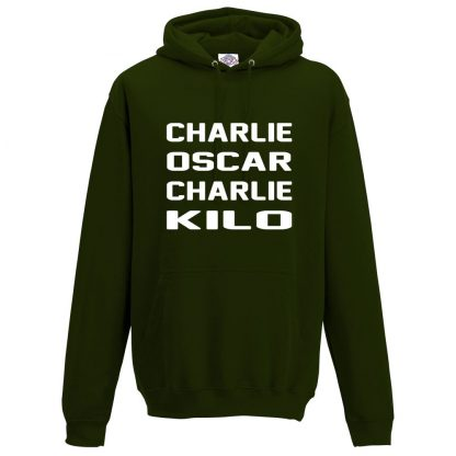 Mens C.O.C.K Hoodie - Forest Green, 2XL