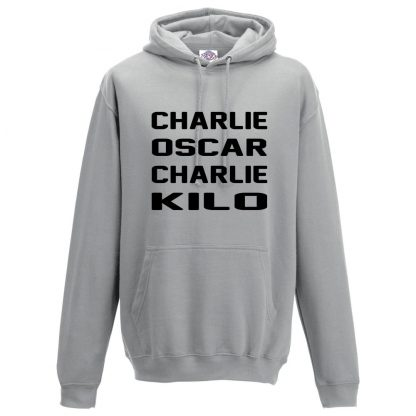 Mens C.O.C.K Hoodie - Charcoal, 2XL