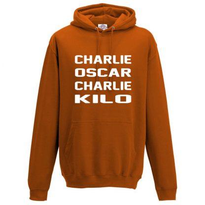 Mens C.O.C.K Hoodie - Orange, 2XL