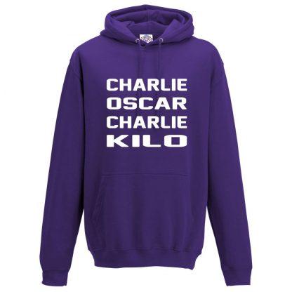 Mens C.O.C.K Hoodie - Purple, 3XL