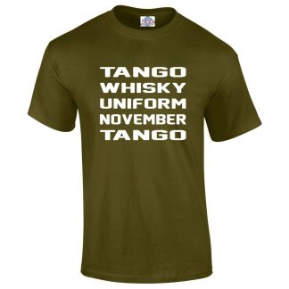 Mens T.W.U.N.T T-Shirt - Military Green, 2XL