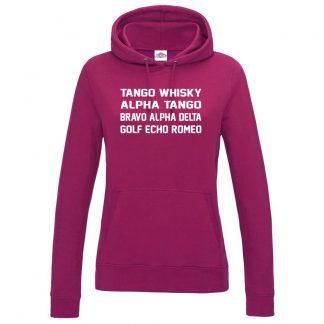 Ladies T.W.A.T.B.A.D.G.E.R Hoodie - Hot Pink, 18