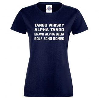 Ladies T.W.A.T.B.A.D.G.E.R T-Shirt - Navy, 18
