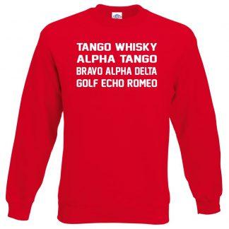 T.W.A.T.B.A.D.G.E.R Sweatshirt - Red, 2XL