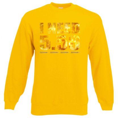 I NEED 5.56 Sweatshirt - Yellow, 2XL