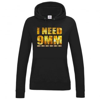 Ladies I NEED 9MM Hoodie - Black, 18