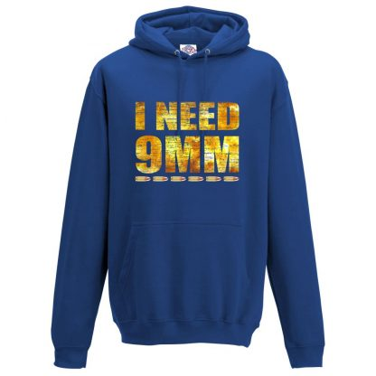 Mens I NEED 9MM Hoodie - Royal Blue, 3XL
