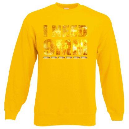 I NEED 9MM Sweatshirt - Yellow, 2XL