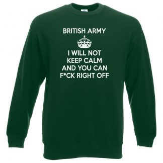 ARMY KEEP CALM Sweatshirt - Bottle Green, 2XL