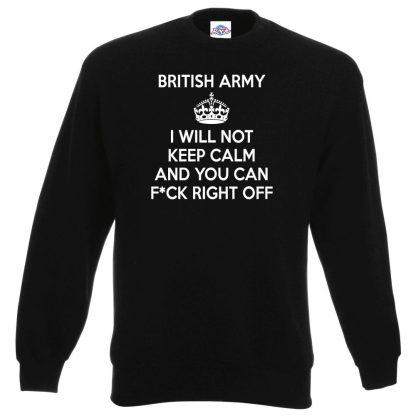ARMY KEEP CALM Sweatshirt - Black, 3XL
