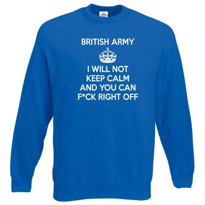 ARMY KEEP CALM Sweatshirt - Royal Blue, 2XL