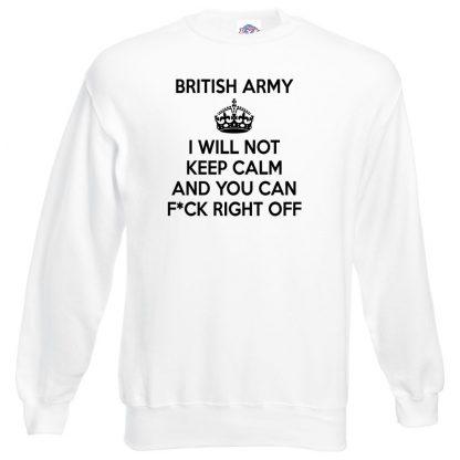 ARMY KEEP CALM Sweatshirt - White, 3XL