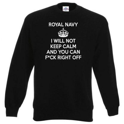 NAVY KEEP CALM Sweatshirt - Black, 3XL